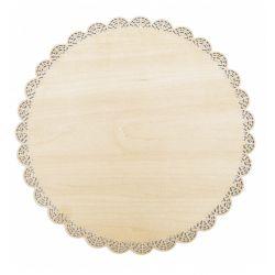 Ronde houten kanten presentatie bord 29 cm