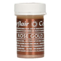 Sugarflair Edible Paint Rose Gold - 20gr