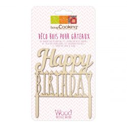 ScrapCooking Cake Topper Happy Birthday