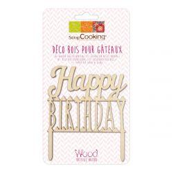 ScrapCooking Cake Topper Happy Birthday