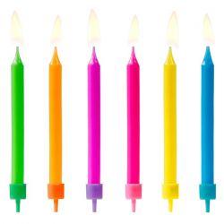 PartyDeco Candles Colours 6pc