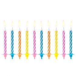 PartyDeco Candles Colours 10pc