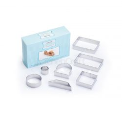 KitchenCraft Stainless Steel 3D Train Cookie Cutter Set