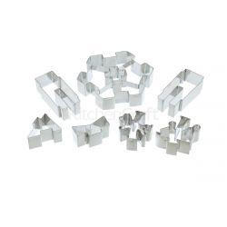 KitchenCraft Stainless Steel 3D Merry Go Round Cookie Cutter Set