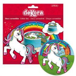 Dekora Disco Comestible Unicorn