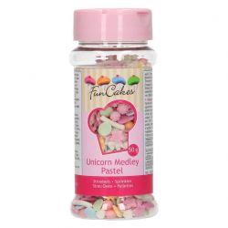 Funcakes Unicorn Medley Sprinkles - Pastel