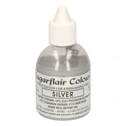Sugarflair Airbrush Colouring Silver 60ml