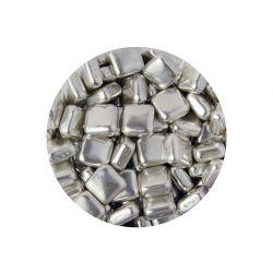 Scrumptious Metallic Silver Squares