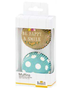Birkmann Muffinvormpjes Be Happy & Smile Dots