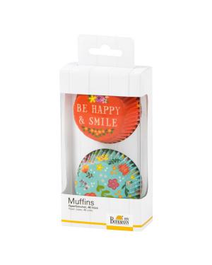 Birkmann Muffinvormpjes Be Happy & Smile flowers
