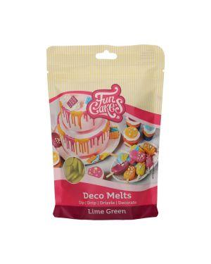 Funcakes Deco Melts Limegroen 250gr