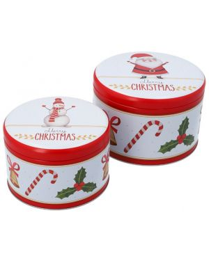 Birkmann Cake Tin Set Merry Christmas L