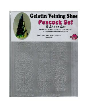 Gelatin Veining Sheet Set Peacock
